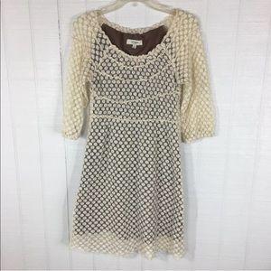 UMGEE Eyelet Lace Ivory Overlay Dress Size M